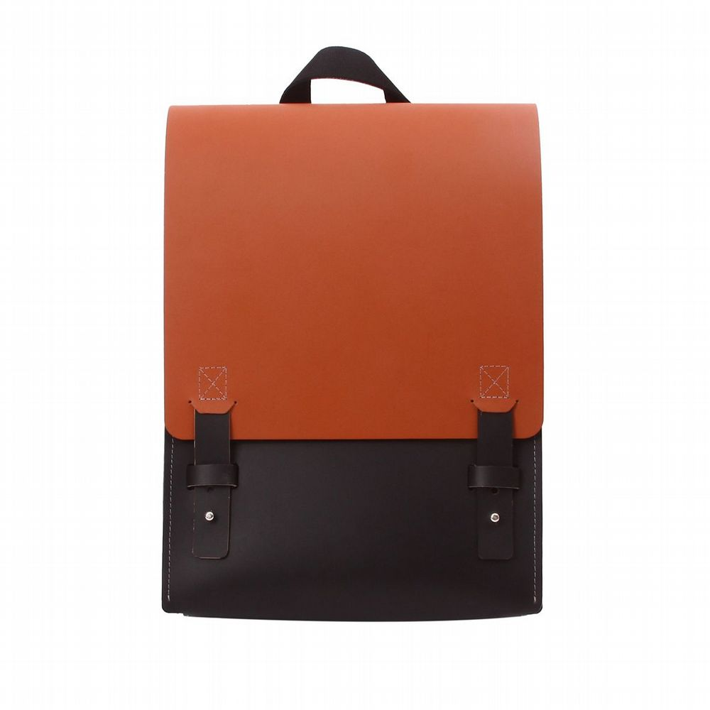 Recycled Leather - London Backpack - Tan & Black